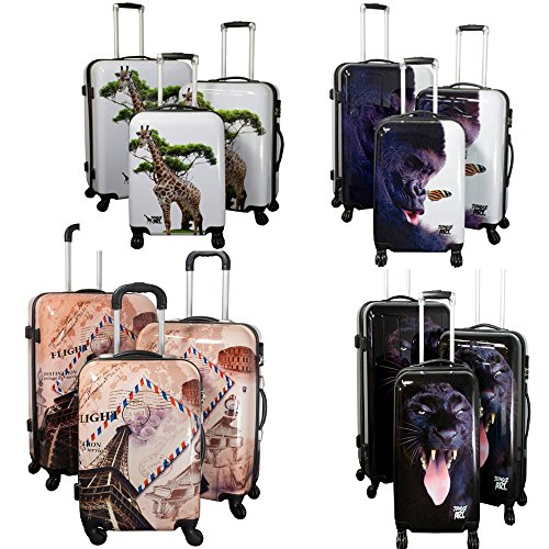 PMro-Trading Euro-Trading Butterfly Case Size 75 X 54 Cm. Large. Color- Multicolour Valise. cm. 83 liters. Multicolore (Multicolour)