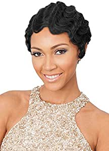 100% Remy Human Hair Wigs Wavy Short Finger Waves