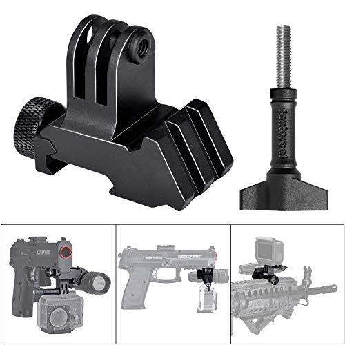 icatinny-Schienen-Adapter für GoPro Motion Sport-Camcorder DV für AR15 M4 M16 Glock Gewehrkarabiner Paintball Airsoft Jagd Rec ()
