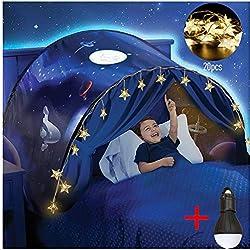 Dream Tents - Tente de Lit Enfants Tente Playhouse de Tente Apparaitre Intérieure Enfant Jouer Tentes Cadeaux de Noël pour Enfants (Aventure Spatiale)