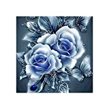 Aolvo DIY 5D Diamant Set teilweise Sticky Diamant Retro Rose Strass Stickerei Dekoration für Home Decor Wand Dekoration 24,9x 24,9cm, 06, 25*25