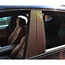 6x carbono paneles de las puertas de Brown B pilar puerta pilar adecuado para su vehículo