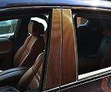 6x Carbon Weiß Türzierleisten Verkleidung B Säule Türsäule passend für Ihr Fahrzeug