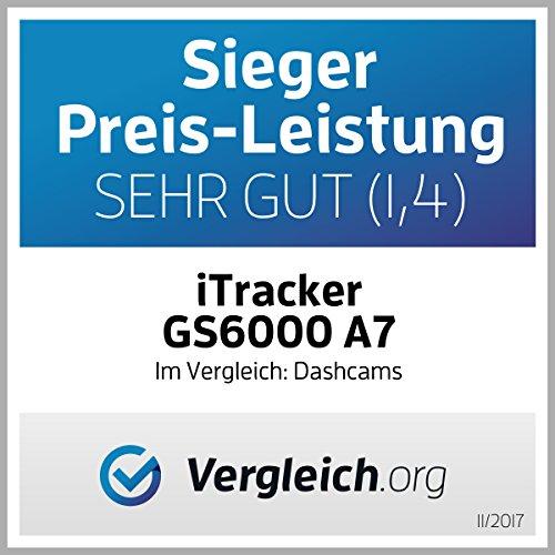 iTracker GS6000-A7 GPS Autokamera Dashcam SuperHD 1296p Dash-Cam Abbildung 2