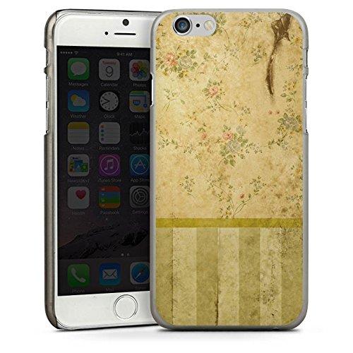 Apple iPhone 4 Housse Étui Silicone Coque Protection Rétro Mur Bandes CasDur anthracite clair