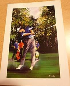 Victor Spahn - Golfeurs - 10x15 cm CARTE POSTALE