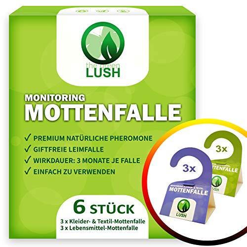 Mottenfalle - KOMPLETTPAKET: 6 Pheromonfallen zur Bekämpfung und Schutz gegen Motten in der Küche und Kleiderschrank