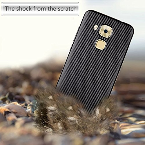 YHUISEN Huawei Nova Plus Case, Slim Carbon Fiber Gummi Soft TPU Hybrid Shockproof Case Cover für Huawei Nova Plus / G9 Plus ( Color : Rose Gold ) Silver