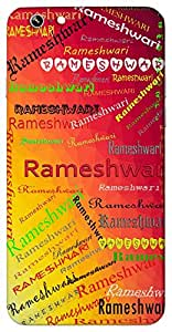 Rameshwari (Popular Girl Name) Name & Sign Printed All over customize & Personalized!! Protective back cover for your Smart Phone : Samsung Galaxy E5