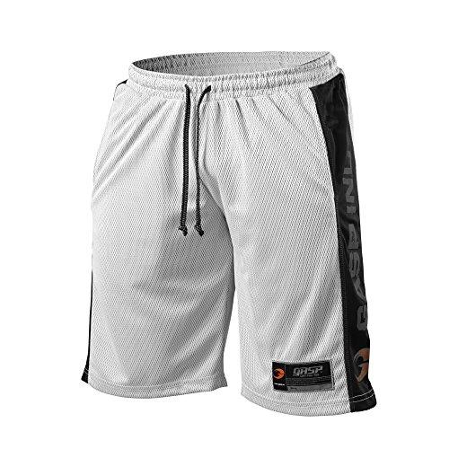 GASP NO1 Mesh Short - Kurze Herren-Hose, Größe:XL;Farbe:weiss/schwarz (Farbe Polyester-mesh-shorts)