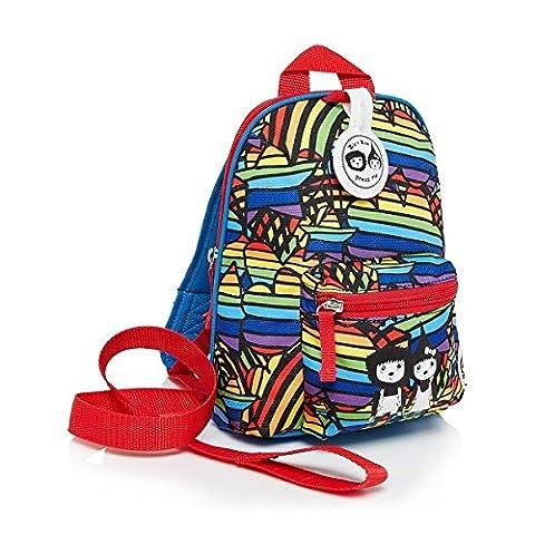 Babymel Mini Rucksack mit abnehmbarer Sicherheit Geschirr/Zügel geeignet von 1–4Jahren–Reißverschluss & Zoe Range