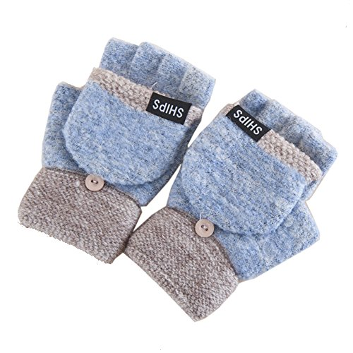 artone-damen-thermo-isolierung-halbfinger-handschuhe-mit-fustlinge-klappe-blau