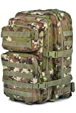 Camouflage Militaire Armée Sac à dos US assault pack 50L MOLLE Woodland Vegetato