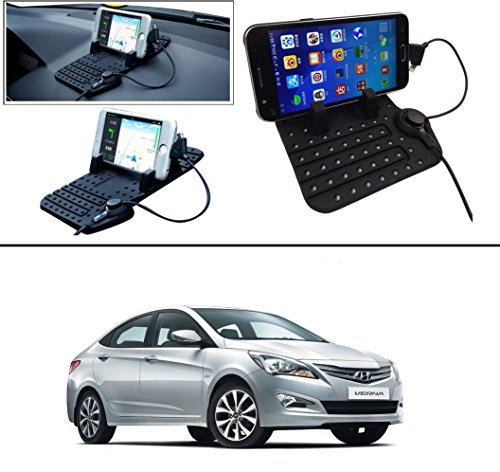 AutoStark Car Mobile Holder Pad with Charger Car Cradle with Fast Charging For Hyundai Verna Fluidic 4s