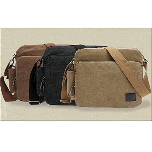 Retro- Umhängetasche / Messenger Tasche, perfekt Geschenke für Männer, Herren Freizeittasche, Tagetasche 27 x 23cm - Khaki Khaki