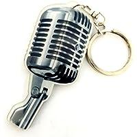 Llavero de acrílico forma micrófono