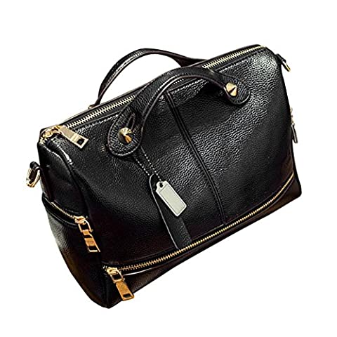 Fami Femmes célèbres élégant sac à main de haute qualité (Noir)