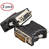 LINESO 2Pack DVI Male To VGA Female Adapter (HDD15Pin
