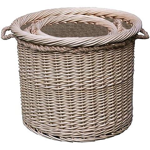 Red Hamper - Conjunto de cuerda 3 deluxe cestas forradas iniciar manejadas