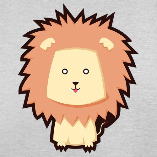 Cute Lion - Herren T-Shirt - 13 Farben Hellgrau