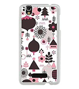 Multi Colour Flower Pattern 2D Hard Polycarbonate Designer Back Case Cover for YU Yureka :: YU Yureka AO5510
