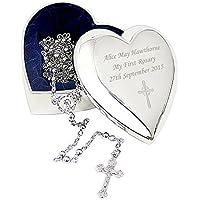 Rosario con croce portagioie a forma di cuore - Cuore Rosario Croce
