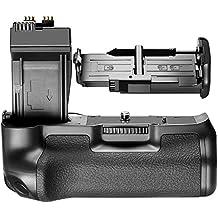 Neewer® BG-E8 Repuesto de Empuñadura de Batería para Cámaras SLR Canon EOS 550D/600D/650D/700Dd, Rebel T2i/T3i/T4i/T5i, Funciona con 1 o 2 LP-E8 o con 6 Pilas AA.