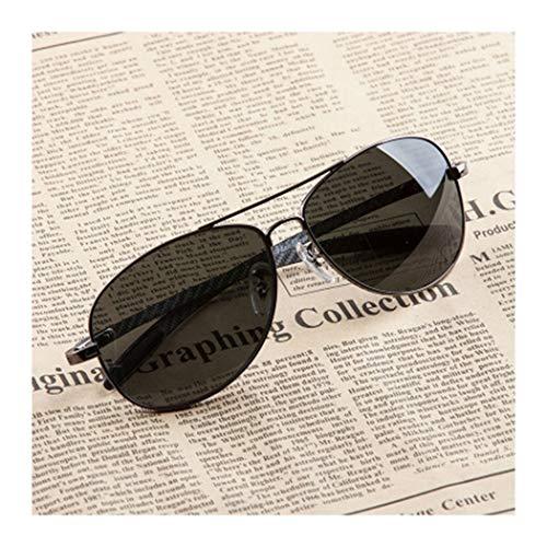 HONGNA Sonnenbrillen Free Soldiers Storm Glasses Herren Polarized Mirror Driver Fahren Sonnenbrillen Piloten Fliegende Spiegel Angeln Gläser (Farbe : Schwarz)