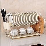 HL-PYL L'Acciaio Inossidabile Cucina Scaffale Rack Drainboard Piattaia Doppio Lavabo Vassoio Telaio Isolato