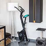 Faltbares X-Bike Heimtrainer Fitnessfahrrad mit Herzfrequenz-Monitor und LCD-Bildschirm   Das perfekte Trainingsgerät für ein effektives Ganzkörper-Workout zu Hause - 5