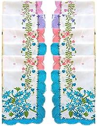 Indiacrafts Super Quality Women's Cotton Handkerchief Pack of 12 (Medium Size 30 Cmx 30 Cm)