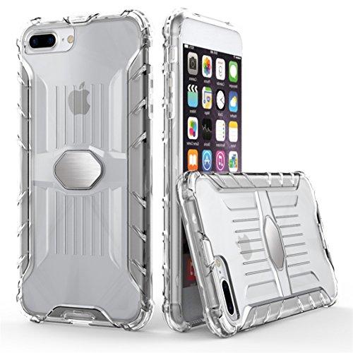Apple iPhone 7 Plus 5.5 Coque Véhicule Monté et Magnétique [Armure Series], Voguecase 2 in 1 Antichoc TPU et Dur PC Bord Rugged Protecteur Coquille Shell Housse Étui(Vert) + Gratuit stylet l'écran alé Transparent