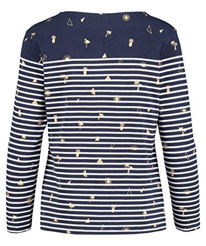 Superdry Damen Shirt Conversational Bretton Langarm Weiß
