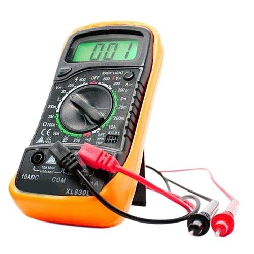 Xueliee Portatile multimetro Digitale retroilluminazione AC/DC voltmetro Ohm Tester XL830L