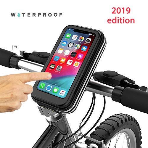 Choose Your Bike Porta Telefono per Bici Nero Universale Waterproof, Borse Bicicletta, Adatto per Tutti i Telefoni iPhone XS, XR, 8,7,6, Samsung, LG, Nokia