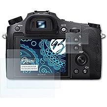 Bruni Pellicola Protettiva per Sony DSC-RX10 IV Pellicola Proteggi - Set di 2 cristallino Protezione Pellicola dello Schermo