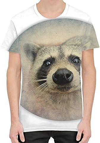 Cute Raccoon Face Sublimation T-Shirt XX-Large