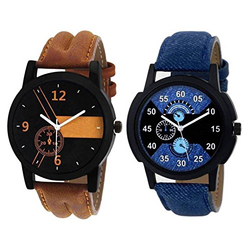 Men's and Boy's Analogue Multi-Colour Dial Set Of Two Combo Watch