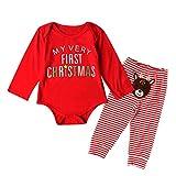Beikoard Weihnachten Kleidung Baby Weihnachtsgeschirr Zweiteiliges Seten Baby Neugeborenes Kleidung Set Hoodie Hosen Sets Baby Born Kleidung Set
