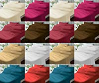 "Non-Iron 12"" (30cm) Extra-Deep Fitted Bed Sheets ~ Plain Dyed Cotton Rich Touch ~ PERCALE (180 Thread Count) Quality for THICK MATTRESS ~ 12 COLORS & UK SIZES"
