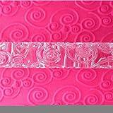 LYNCH Herramientas de vid de la flor con textura en relieve acrílico RODILLOS la pasta de azúcar que adorna