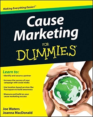 Cause Marketing For Dummies by Joe Waters (2011-08-09)