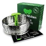 Koala Kitchen Edelstahl Dämpfeinsatz für Koch-Töpfe von 18cm - 28cm stufenlos verstellbarer Dampfgarer zum Gemüse dämpfen BPA-frei rostfrei geeignet für Baby-Nahrung - 5