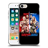 Head Case Designs Offizielle WWE Raw Versus Smackdown 2018 Survivor Serien Soft Gel Hülle für iPhone 7 / iPhone 8