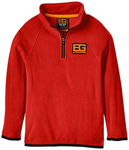 Bear Grylls Kid's Core Micro Fleece Jacke rot Rot - Bear Red Size 5 - 6 -