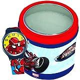 Diakakis 0500643 Spiderman - Reloj de pulsera infantil, 7 x 7 x 7 cm, plástico, color rojo