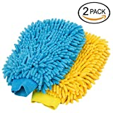 #5: HOMIZE™ Microfiber Double Sided Car Mitt Dusting Cleaning Glove for Home, Office, Kitchen, Hotel, Glass, Car