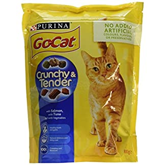 Go-Cat Crunchy and Tender Dry Cat Food Salmon 800g - Case of 4 (3.2kg) 21
