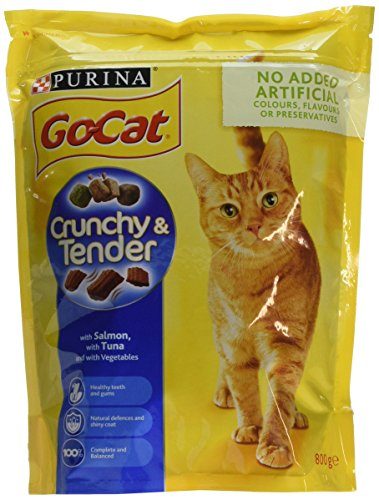 Go-Cat Crunchy and Tender Dry Cat Food Salmon 800g - Case of 4 (3.2kg) 1