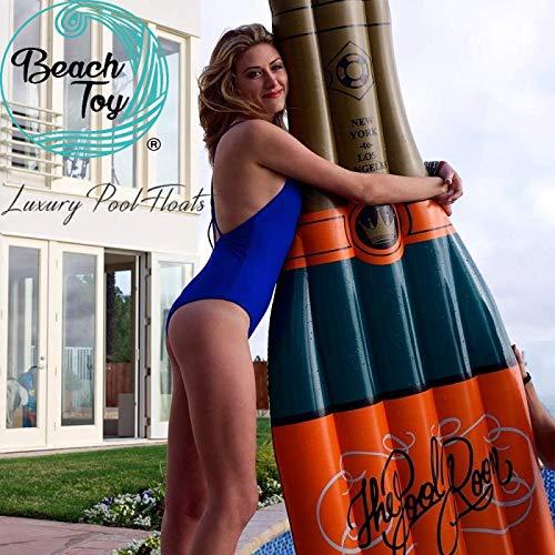 beachtoy Materasso Gonfiabile bottiglia di champagne Mega Fun Party Taglia XXL